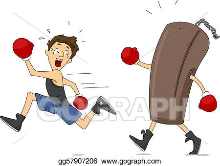 Drawing punching revenge gg. Boxer clipart boxing bag