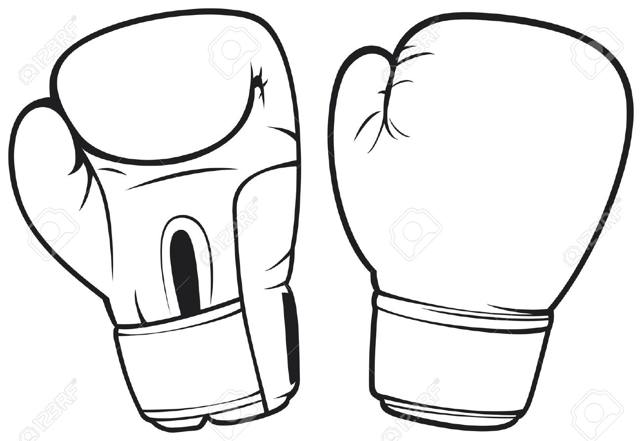 Drawing pencil and in. Boxer clipart boxing glove