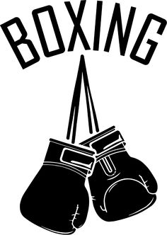 How to draw gloves. Boxer clipart boxing glove