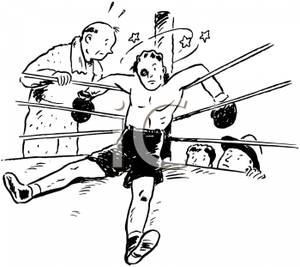 A retro cartoon of. Boxer clipart boxing knockout