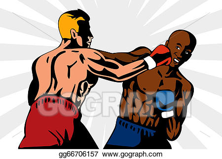 Boxer clipart boxing knockout. Stock illustration punch retro