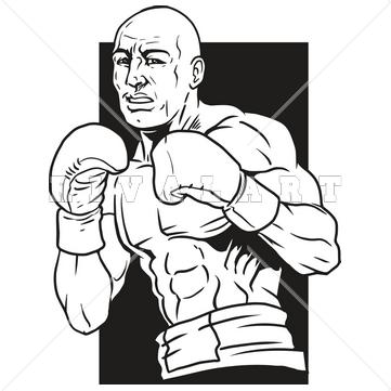 boxer clipart boxing man