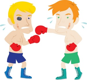 Image two boxers beating. Boxer clipart boxing match