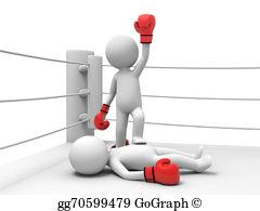 Stock illustration businessman winning. Boxer clipart boxing match