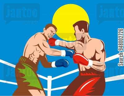 Boxer clipart boxing match. Title cartoons humor from