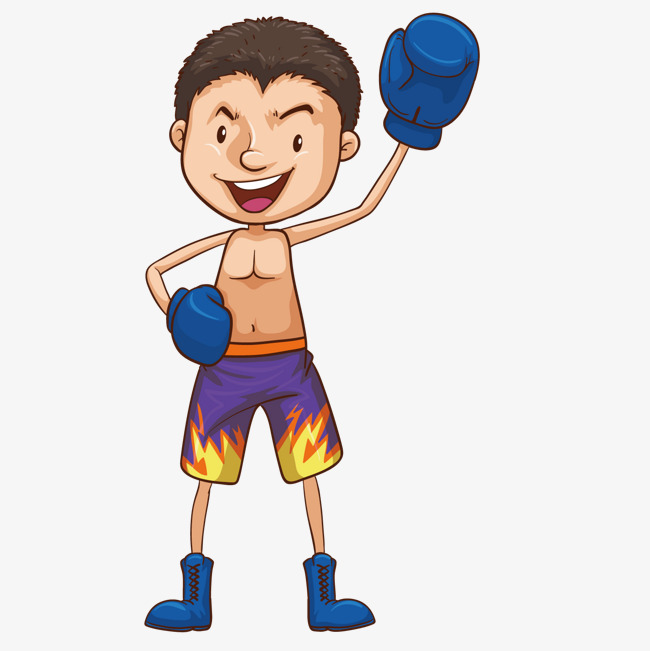 Boxer clipart boxing player. Cartoon png and vector