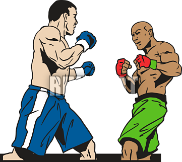 Skillful design serious female. Boxer clipart boxing player