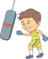 Boxer clipart boxing player. Sports free to download