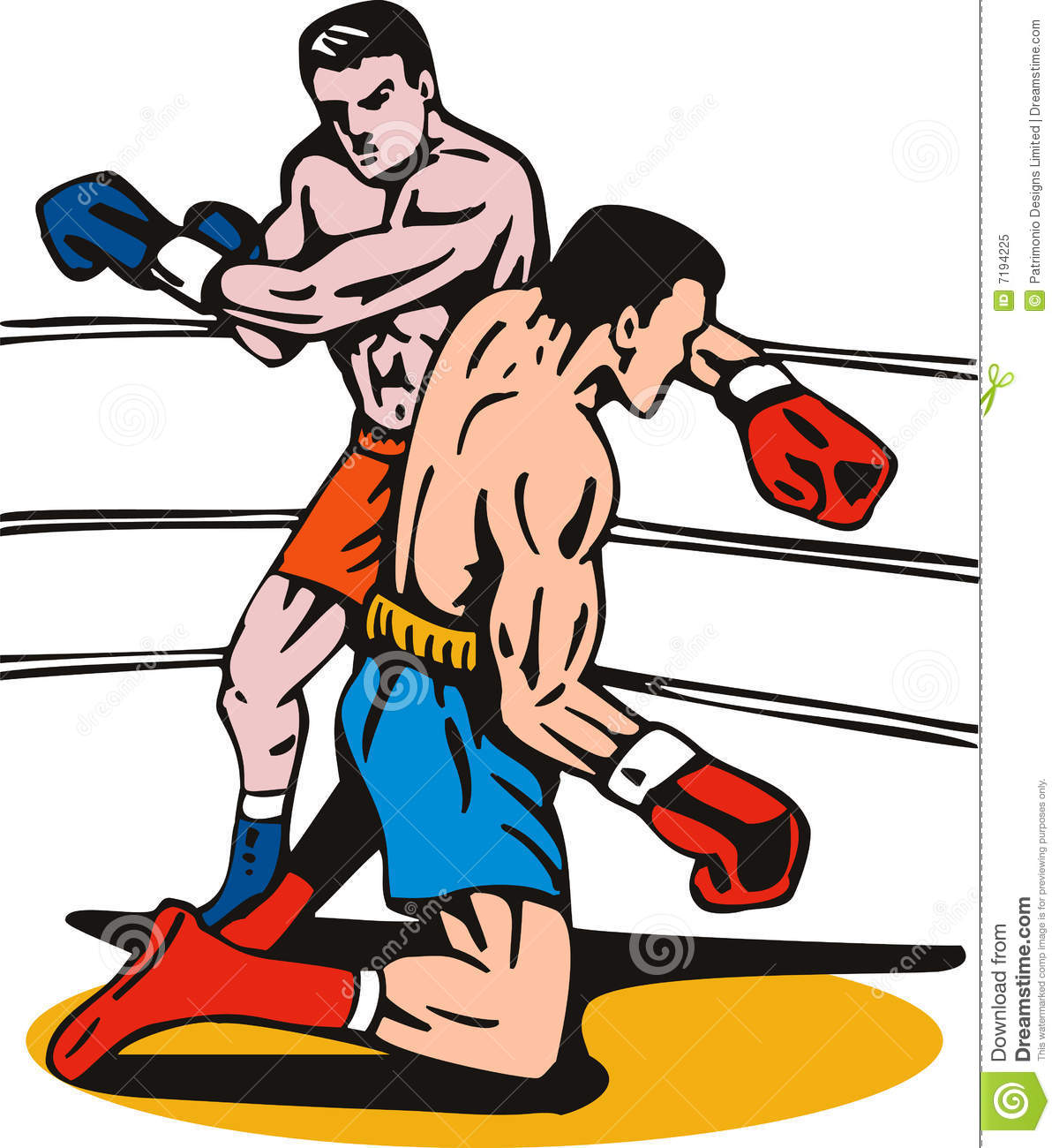 Knockout . Boxing clipart boxing sport