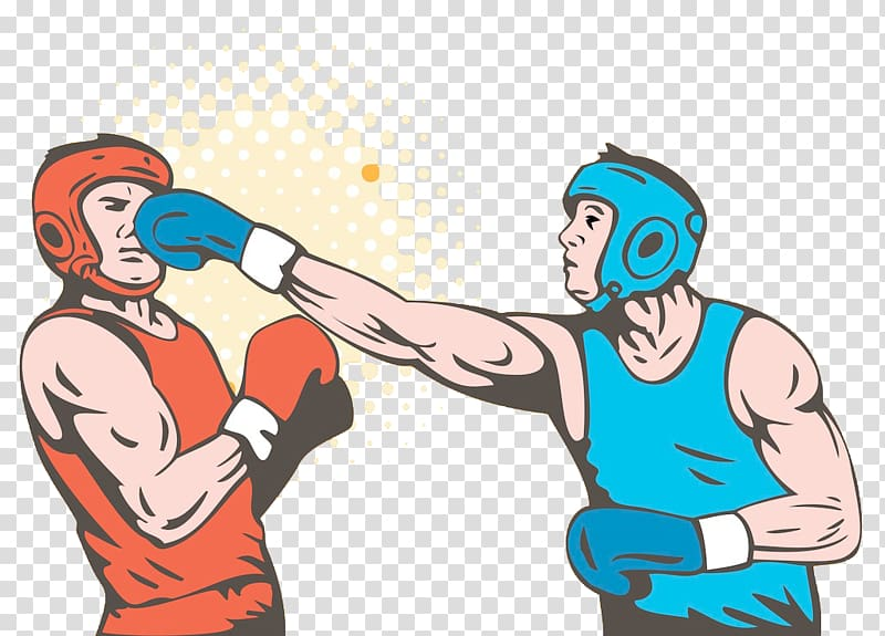 Boxer clipart boxing player. Two players glove punch
