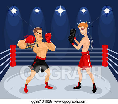 Boxer clipart boxing ring. Stock illustration of boxers