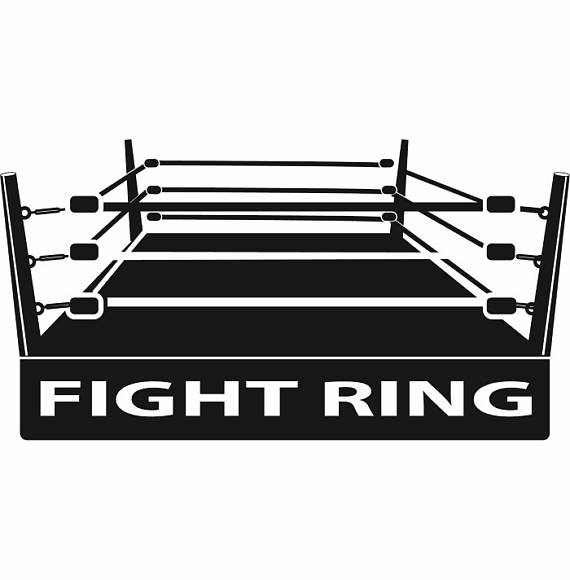 Gloves fight fighting match. Boxer clipart boxing ring