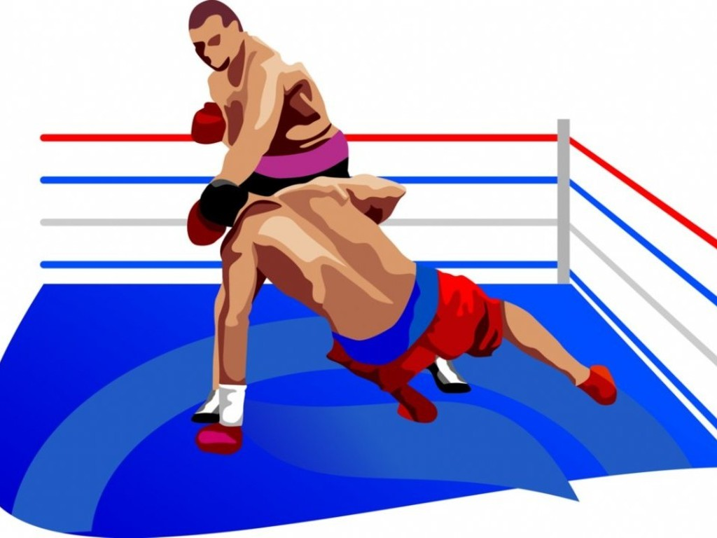 Boxer clipart boxing ring. Free men fighting in