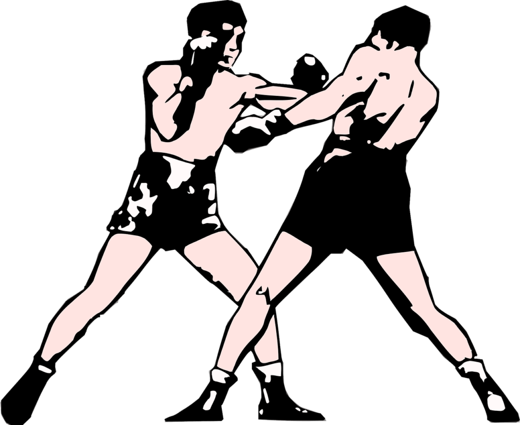 Stance to learn on. Fist clipart boxing