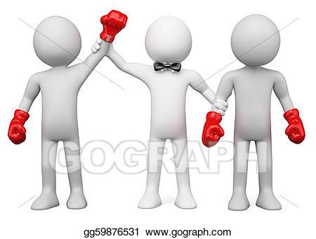 Stock illustrations d referee. Boxer clipart boxing winner