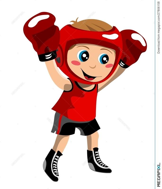 Boxer clipart boxing winner. Kid illustration megapixl