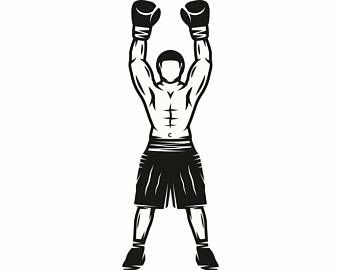 Boxer clipart boxing winner. Champion fight fighting fighter