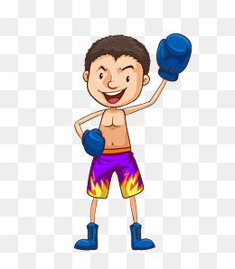 Cartoon png vectors psd. Boxer clipart boy