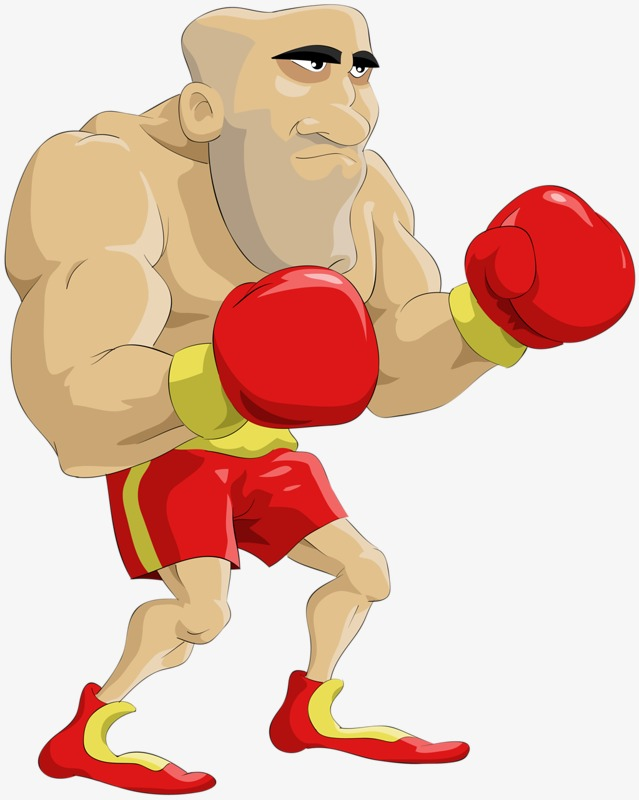 Boxer clipart cartoon. Illustration png image and