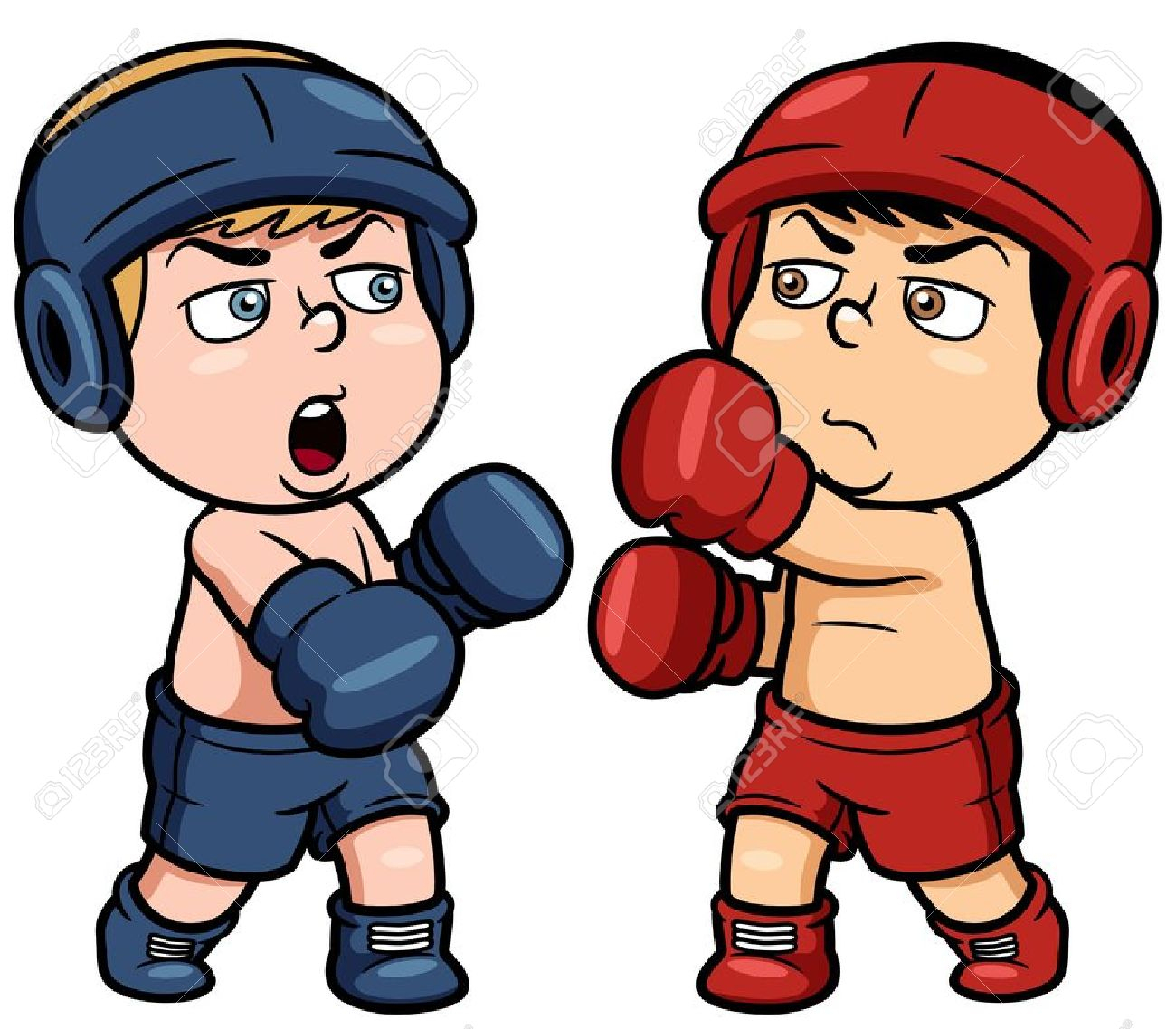 Cartoon drawings pencil and. Boxer clipart comic