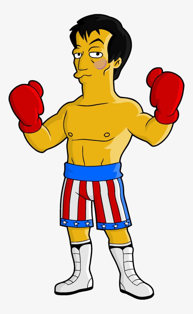 Cartoon png vectors psd. Boxer clipart comic