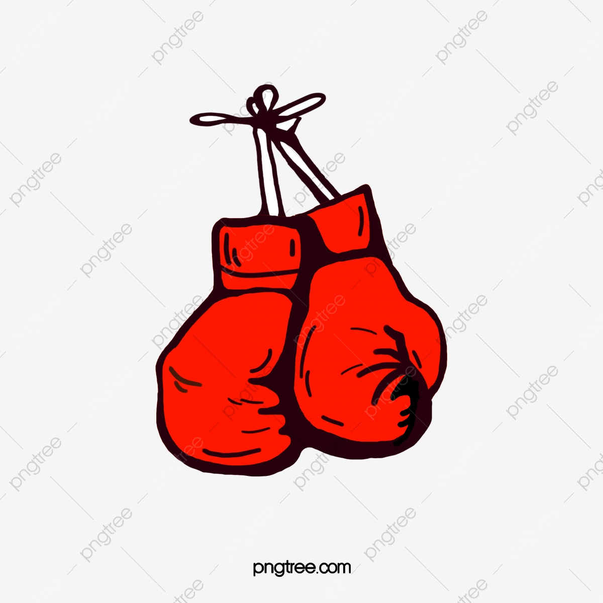 Boxing clipart boxing fight. A pair of red