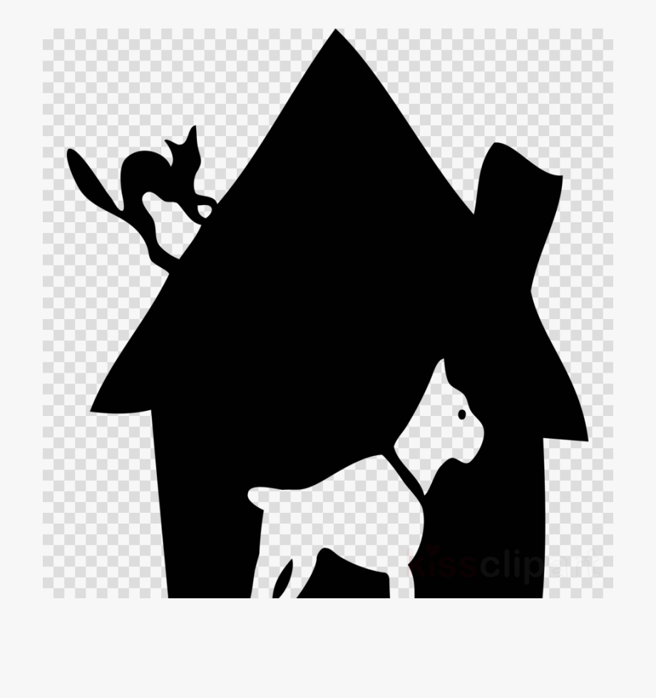 Dog house png silhouette. Boxer clipart comic