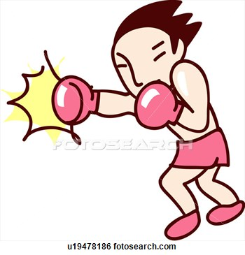 . Boxer clipart fighter