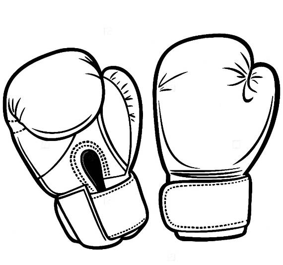 Boxing gloves sport competition. Boxer clipart fighter