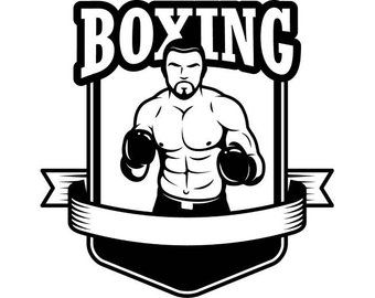 Pinterest . Boxing clipart fighter
