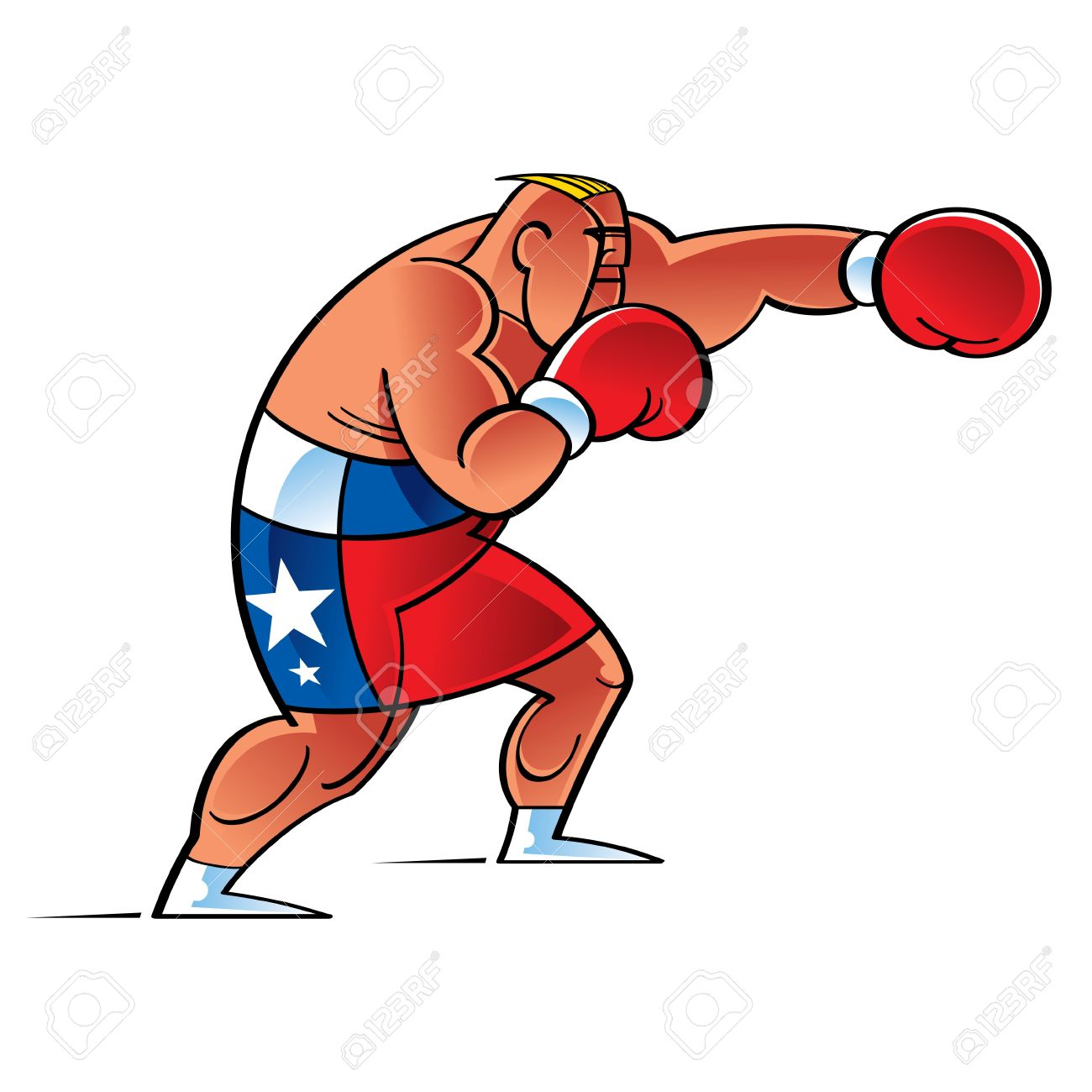 collection of fighter. Boxer clipart jab