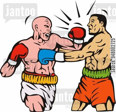 Boxer clipart jab. A connecting knockout punch