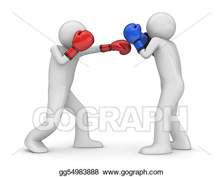 Stock illustration atack and. Boxer clipart jab