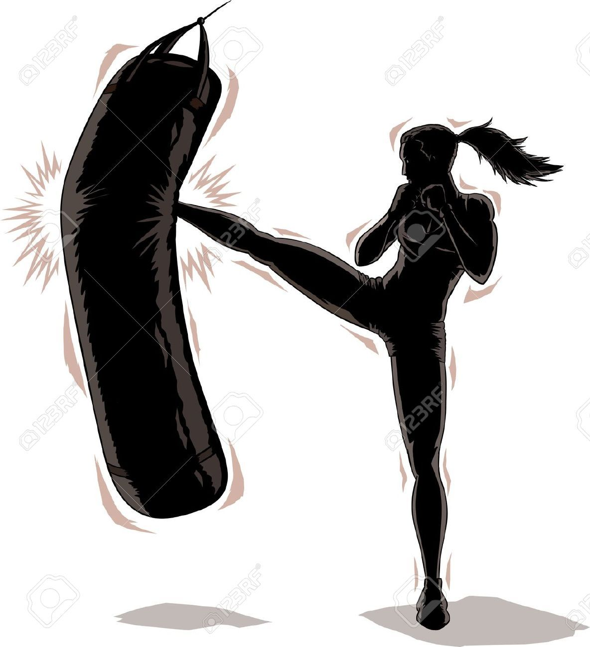 Stock photos images royalty. Boxer clipart kickboxing