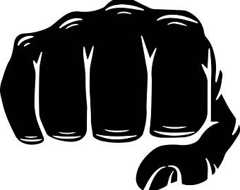 Boxer clipart kickboxing. Mma taped fist fight