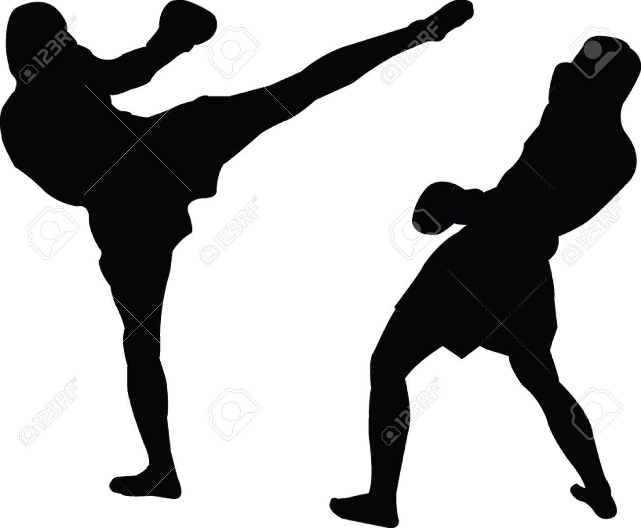 boxer clipart kickboxing