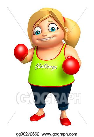 Boxer clipart kid. Drawing girl with boxing