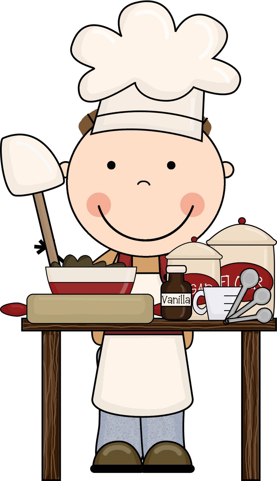 Free prepare food cliparts. Cook clipart pastry chef