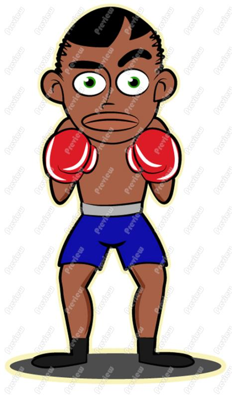 Boxer clipart kid. Cartoon pencil and in