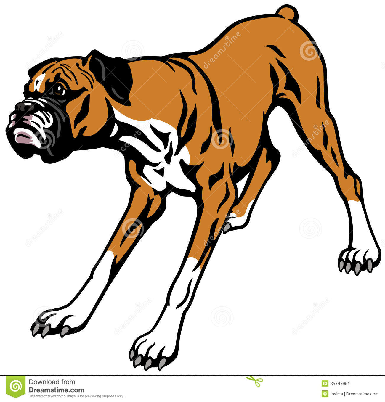Happy dog . Boxer clipart kid