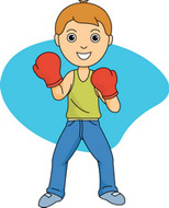 Sports free boxing to. Boxer clipart kid