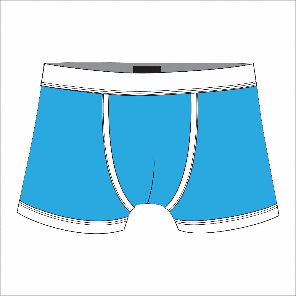 Customized elastic band underwear. Boxer clipart knickers
