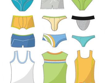 Boxer clipart knickers. Underwear clip art etsy
