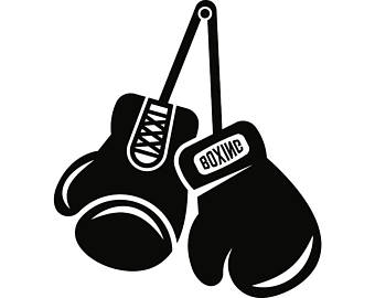 Boxing clipart logo. Gloves star fight fighting