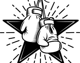 Boxing logo fight fighting. Boxer clipart logos