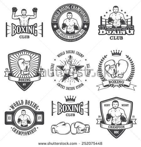 Boxer clipart logos.  best boxing logo