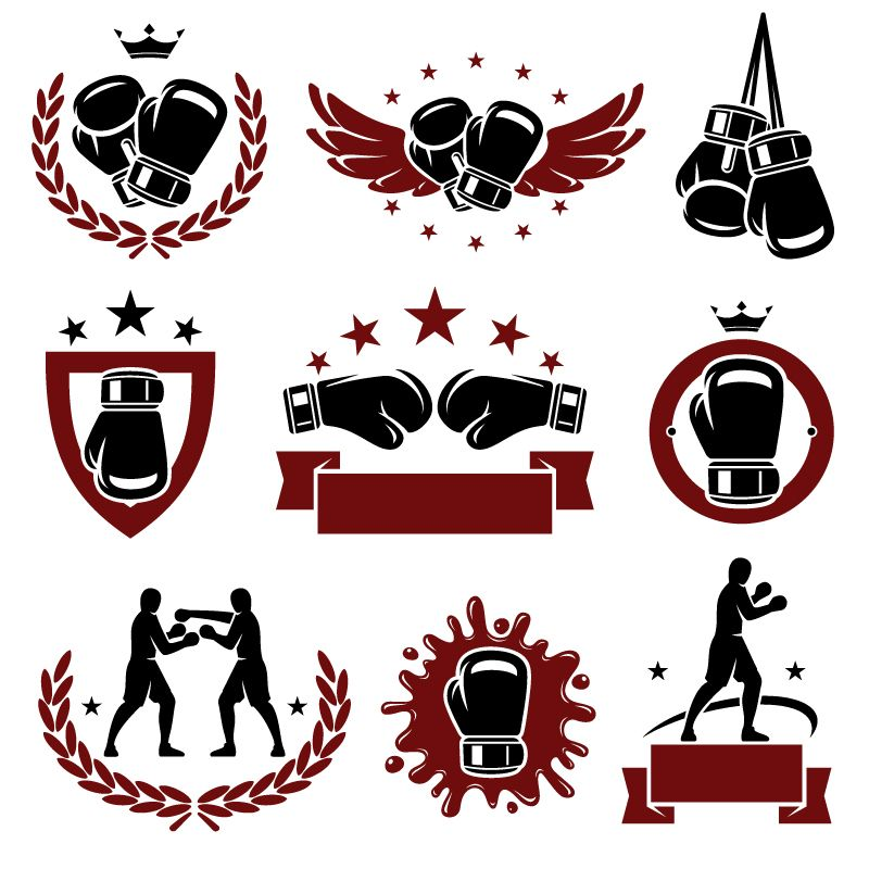 Boxing logo gym pinterest. Boxer clipart logos