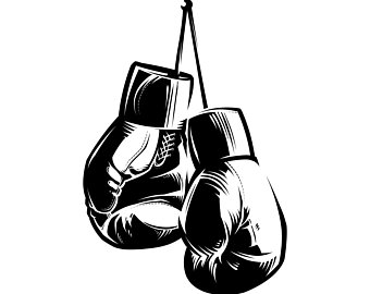 Boxer clipart logos. Boxing clip art etsy