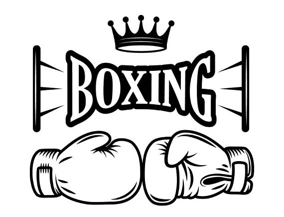 Boxing logo fight fighting. Boxer clipart mma