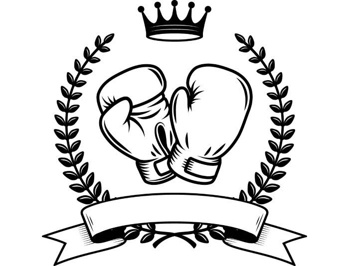 Boxer clipart mma. Boxing logo fight fighting